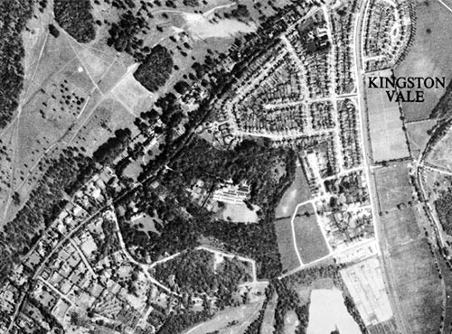 Aerial view of Kingston Vale, 1945