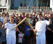 Former geography staff member carries the Torch