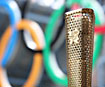 The Olympic torch -  credit LOCOG