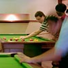 Students playing pool in Students' Union