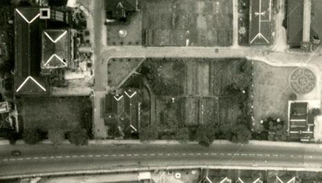 The Seething Wells site photographed in September 1945 by the RAF. Image courtesy of English Heritage