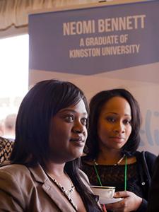 Enterprising nursing graduate Neomi Bennett, left,  now sells her Neoslip anti-embolism aid around the globe.