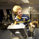 Working out in the Fitness Centre