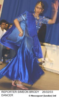 Photo of a dancer at the Bollywood Bazaar