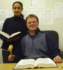 Photo of Farah Khan, left, and Graham Childs.