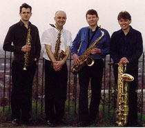 Photo of the Delta Saxaphone Quartet.