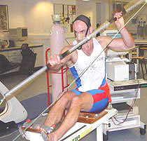 Photo of Ian Wynne in Kingston University's Human Performance Laboratory.