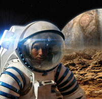 Photo of astronaut.  Picture: BBC Publicity.