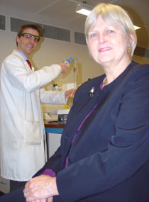 Photo of Dr Neil Williams and Sheila Browning.
