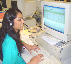 Sukhi Tatla, one of the University's Clearing hotline operators