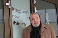 Photo of Sir Peter Hall outside The Rose