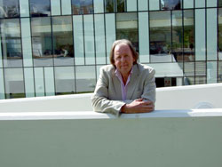 Dr Ray Jones outside the new Nightingale Centre at the University's Kingston Hill campus