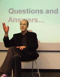 Former Endemol chairman Peter Bazalgette shared his views on the creative economy at the entrepreneurship lecture.