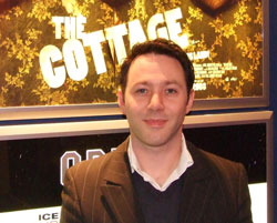 Actor Reece Shearsmith shared the red carpet with director Paul Andrew Williams at the Kingston premier of The Cottage.