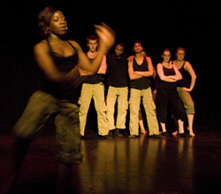 Dancers take to the stage at the Kingston University Dance Show.