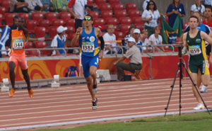 Top paralympic athlete Antonis Aresti in action in Beijing.