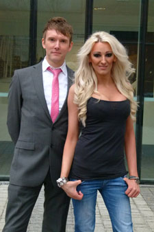 Dr Will Brooker with star of My Transsexual Summer Drew-Ashlyn Cunningham
