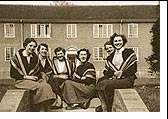 Gipsy Hill College at Kingston Hill, outside Rennie Halls, March 1956