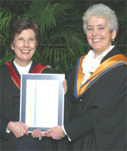Photo of Professor Christine Edwards and Education Director Judy Whittaker