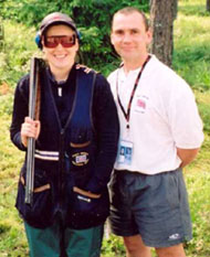 Photo of Dr Geoff Lovell (right) with one of Great Britain's shooters