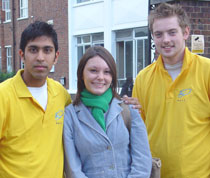 Photo of Freshers' Angels Ajay Nayyar, left, and Gareth Beavis, right.