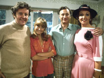 Photo of The Good Life cast. Picture credit: BBC Photo Library.