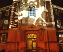 Photo of Muybridge Festival projection. Picture: Surrey Comet.