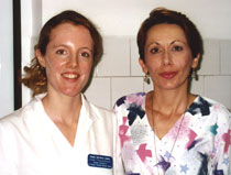 Photo of Emma Sherman-James with Romanian consultant Mihaela Emescu.