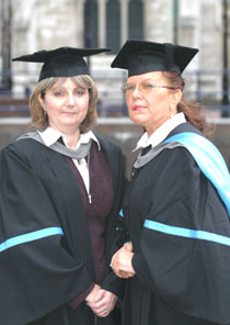 Photo of Paula Quinn, left, and Natasha Reid.
