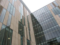 The exterior of the six-storey John Galsworthy Building at Kingston University's Penrhyn Road has now been completed.