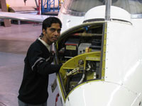 International student Anjay Kumar is realising his ambition to qualify as an aerospace engineer by studying at Kingston University.