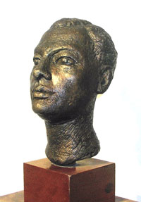 Gordine's sculpture of Amr Pasha - Egyptian Ambassador to the UK 1945-52, bronze, made 1947