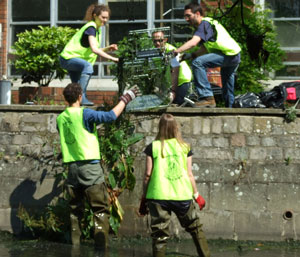The Higher Education Funding Council for England (HEFCE) also gathered footage of student volunteers taking part in a river clean-up.